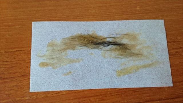 BABYWAXで脱毛した乳毛1
