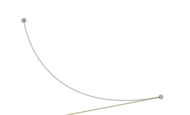 曲線の矢印を描く