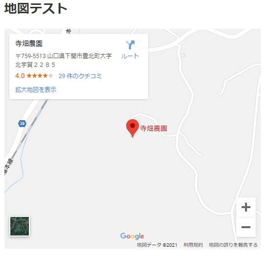 グーグルマップが表示されているか確認