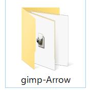 zipファイルを解凍するとgimp-Arrowフォルダが現れる