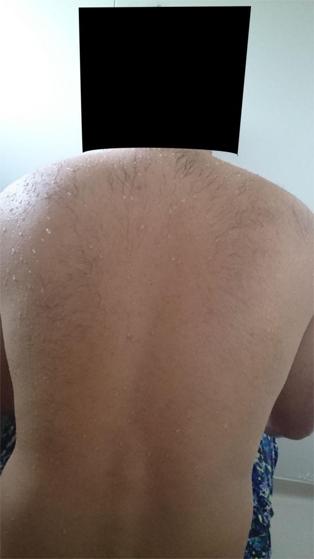 しっとり濡れる背な毛