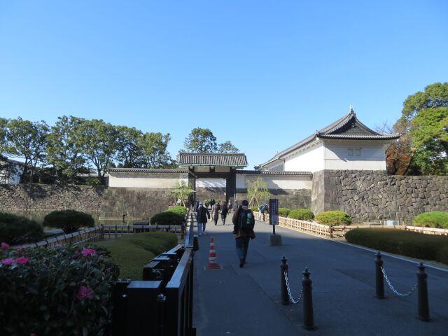 処理をする前の江戸城入り口画像
