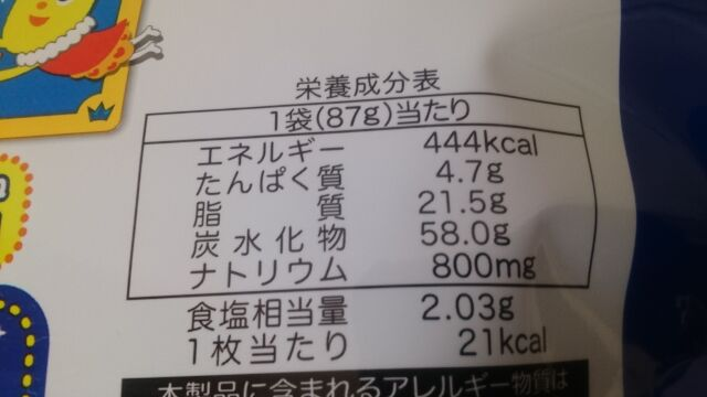 カロリーは444kacal
