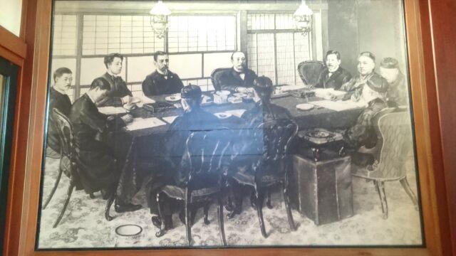 会議風景を描いた絵画