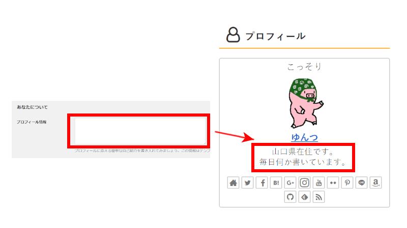 プロフィール情報の設定