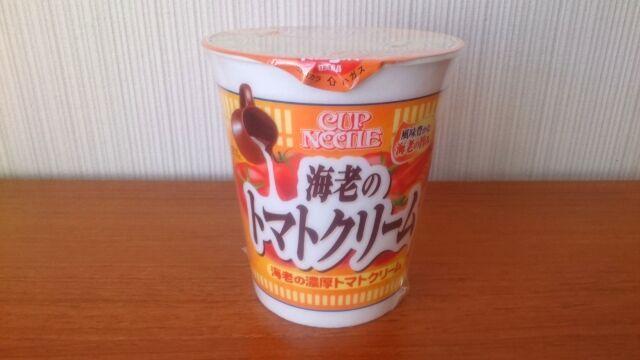 カップヌードル海老の濃厚トマトクリームの容器