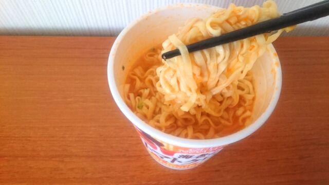 海老の濃厚トマトクリームの麺