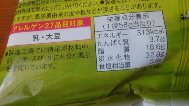 栄養成分表示と含まれるアレルギー物質
