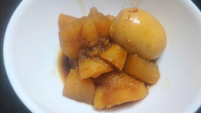 角煮の煮汁で作った煮物