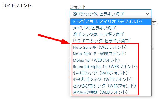 WEBフォントがGoogleFonts