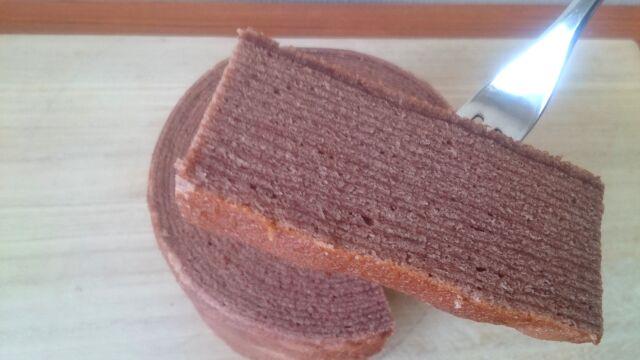 スーパージャンボクーヘンチョコレートのアップ