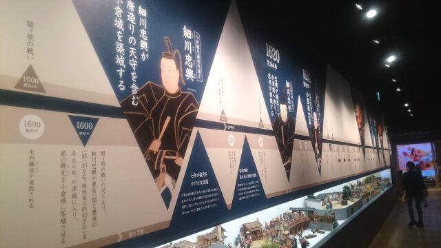 1階通路は小倉城の略歴と当時を再現した模型が展示されている