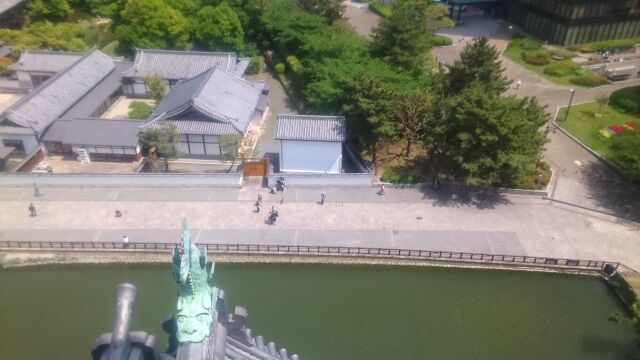 小倉城天守閣からの眺め