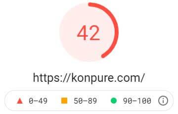 何も対策をしないときの PageSpeed Insightsにおけるモバイルでの表示速度