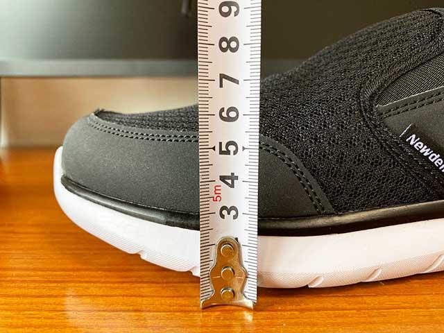 先端の靴底の厚みは2.4cm