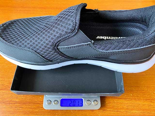 左足の重さは201.3g