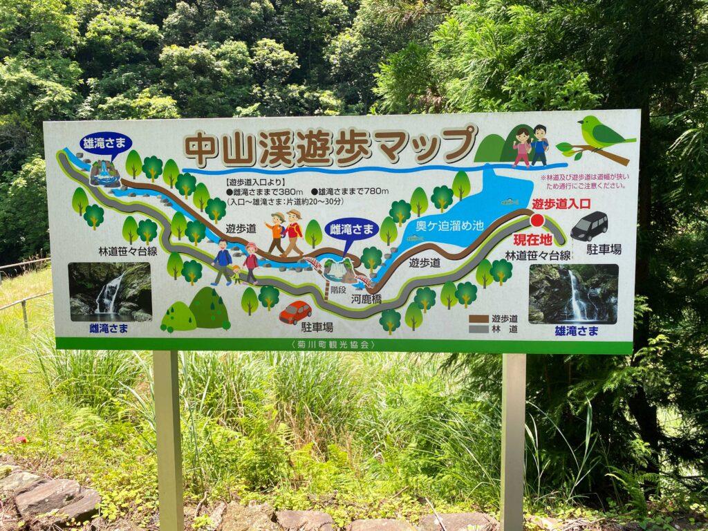 中山渓遊歩マップ