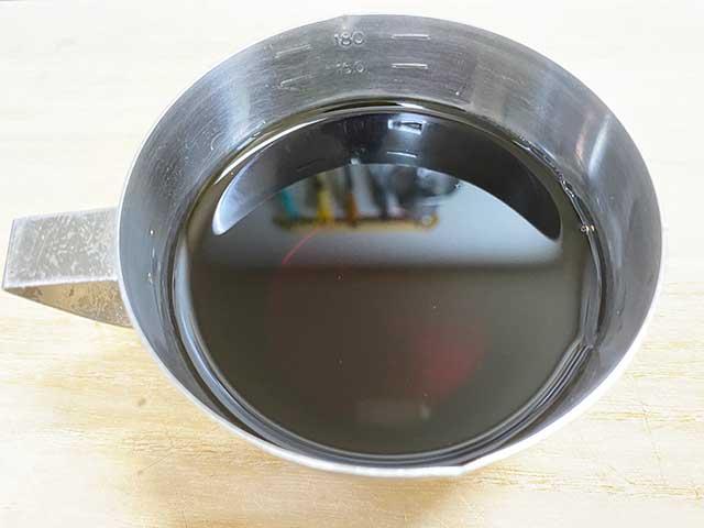 創味のつゆで作った味付け卵のタレ